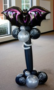 Halloween Bat Balloon delivery, by Balloonopolis, Columbia, SC