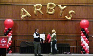 Megaloon Balloon Arch for Arby's, by Balloonopolis, Columbia, SC