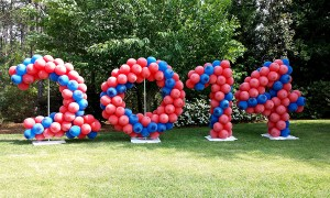 2014 outdoor balloon number, Balloon Numbers and Letters, by Balloonopolis, Columbia, SC