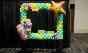 Beach themed balloon photo frame, by Balloonopolis, Columbia, SC - Photo Frames