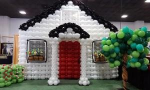 Balloon house wall - Trade Show Booth Decor - Balloonopolis, Columbia, SC