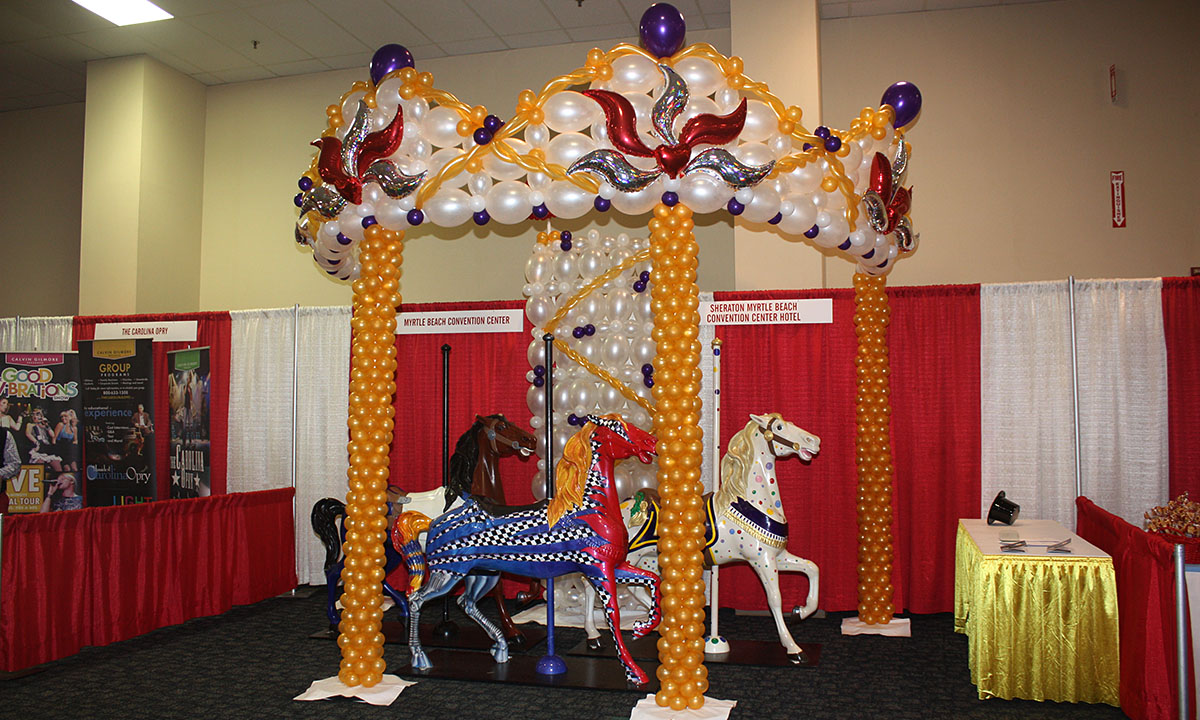 Trade Show balloon carousel, by Balloonopolis, Columbia, SC