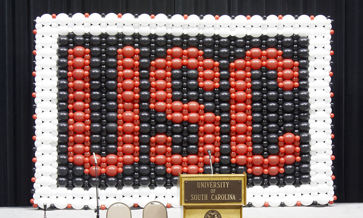 USC Balloon Wall, by Balloonopois, Columbia, SC