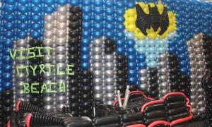 Calling Batman Balloon Wall, by Balloonopolis, Columbia, SC