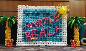 Greetings from Myrtle Beach Balloon Wall, by Balloonopolis, Columbia, SC