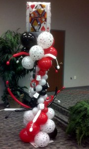 Casino balloon column, by Balloonopolis, Columbia, SC