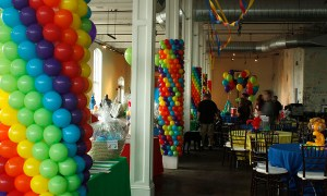columns covered in balloons, by Balloonopolis, Columbia, SC