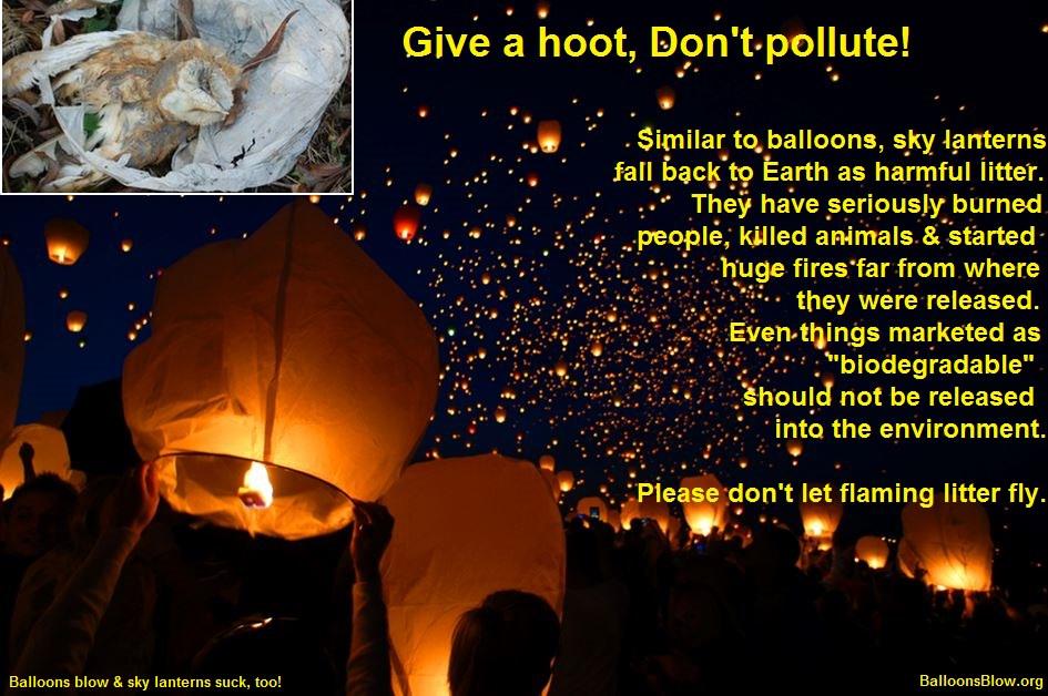 Sky Lanterns Flaming Litter Balloons Blow