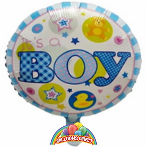 its a boy new baby foil balloon