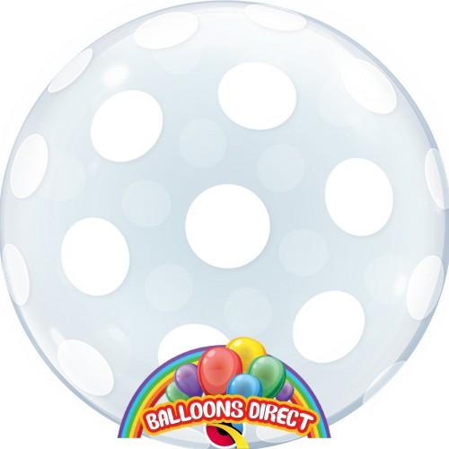 "custom 22"" polka dots bubble balloon from balloons direct"
