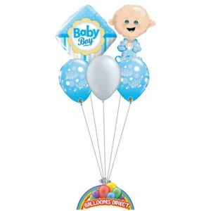 Our welcome baby boy balloon bouquet from balloonsdirect.ie