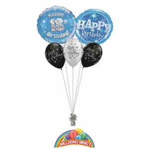 18th birthday blue bouquet from balloonsdirect.ie