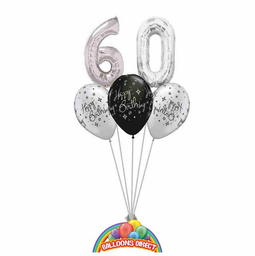 60th birthday balloon bouquet from balloonsdirect.ie