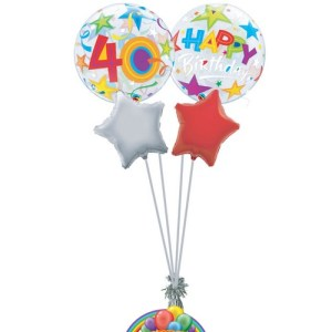 40th birthday generic balloon bouquet from balloonsdirect.ie