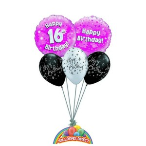 16th birthday balloon bouquet from balloonsdirect.ie