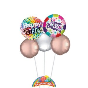 Our Happy birthday ladies balloon bouquet from Balloonsdirect.ie