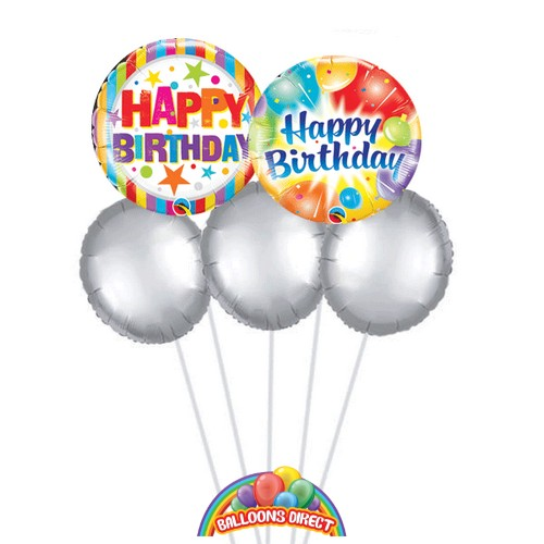 Our Happy birthday balloon bouquet from Balloonsdirect.ie