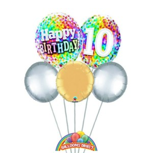Happy 10th Birthday Balloon Bouquet