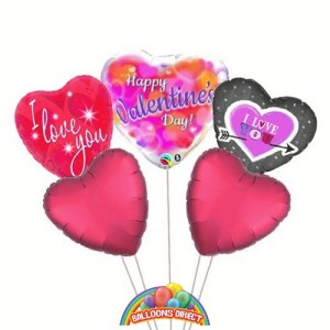 Our Deluxe Valentines balloon bouquet from balloons direct.ie