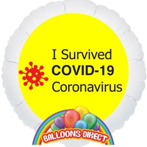 i survived coronavirus covid 19 balloon