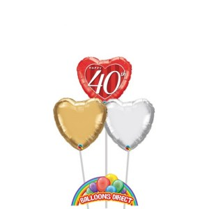 Happy 40th Anniversary Balloons