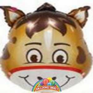 horse head foil balloon