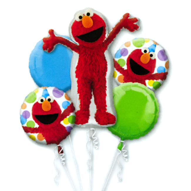 Birthday Balloon Images Part - 32: Elmo Style Birthday Mylor Balloon Bouquet From Balloon Shop NYC
