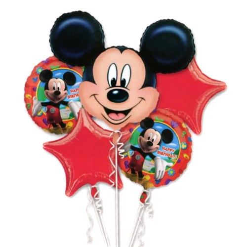 Mickey Mouse Birthday Mylar Balloon Bouquet from Balloon Shop NYC