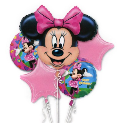 Minnie Mouse Birthday Mylor Balloon Bouquet from Balloon Shop NYC
