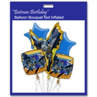 Batman Birthday Balloon Bouquet Not Inflated from Balloon Shop NYC