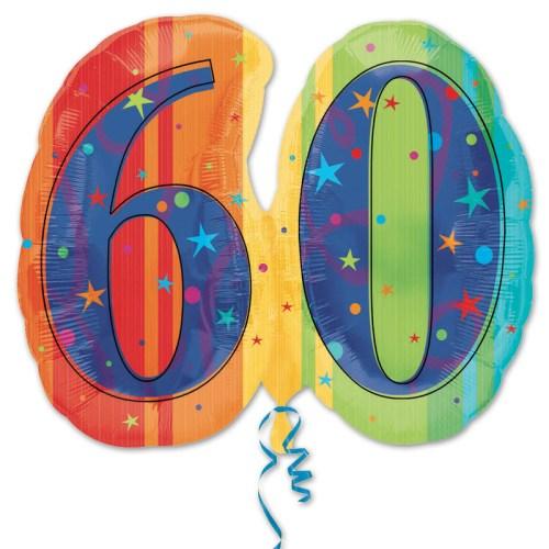 60th Birthday Party Mylar Balloon