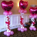Hearts Balloons Sweet 16 Original Party Design