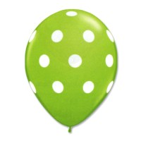Kiwi Latex Party Balloons Polka Dot 12 inch from Balloon Shop NYC