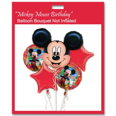 Mickey Mouse Birthday Balloons Bouquet Not Inflated from Balloon Shop NYC