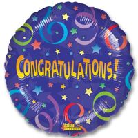 Wow Congratulations Mylar Party Balloon from Balloons Shop NYC