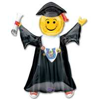 Jumping Grad 35 inch Mylar Party Balloon from Balloons Shop NYC