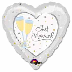 Just Married Mylar Party Balloon from Balloons Shop NYC