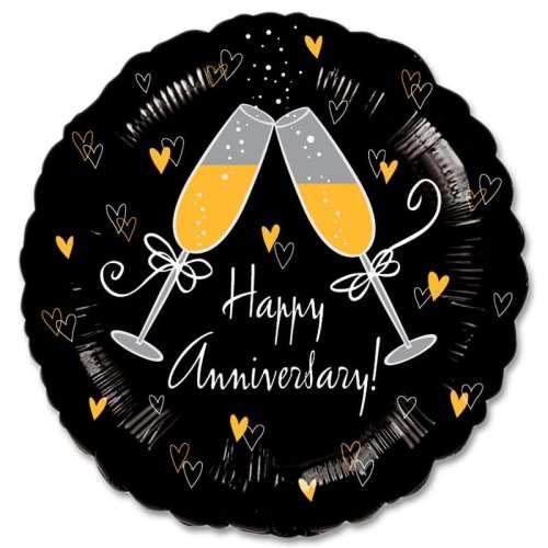 Happy Anniversary Mylar Party Balloon from Balloons Shop NYC