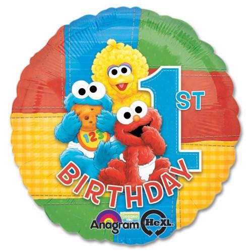 Sesame Street Party Happy Birthday Mylar Balloon from Balloon Shop NYC