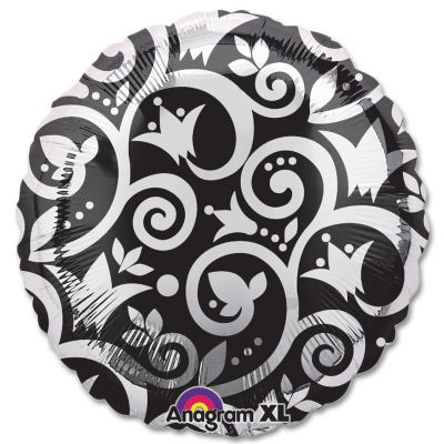 Silhouette Vine Pattern 18 inch Mylar Balloon from Balloons Shop NYC