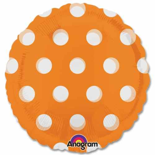 Orange Dots Magicolor Party Balloon from Balloons Shop NYC
