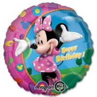 Minnie Happy Birthday Mylar Balloon from Balloon Shop NYC