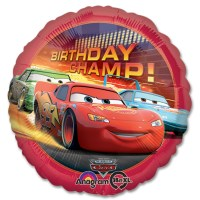 Cars Champ Disney Movie Mylar Balloon from Balloon Shop NYC