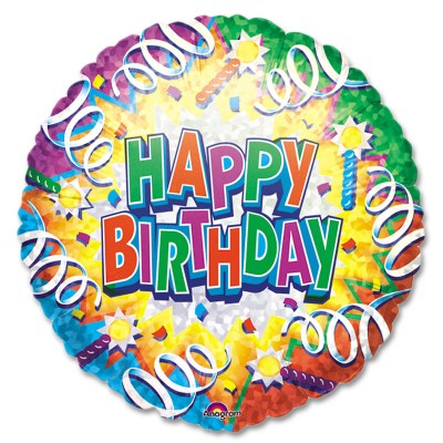 Birthday Explosion Foil Mylar Party Balloon from Balloon Shop NYC