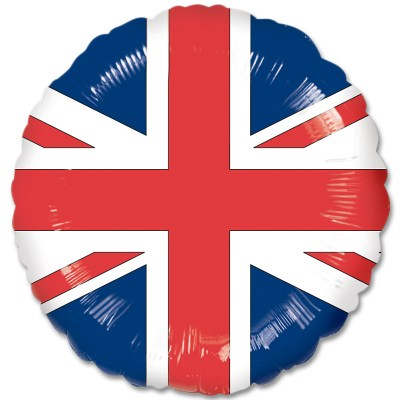 English Flag Mylar Balloon 18 Inch from Balloon Shop NYC