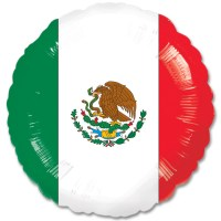 Mexican Flag Mylar Balloon 18 Inch from Balloon Shop NYC