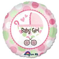 New Baby Girl Buggy Gift Balloon from Balloons Shop NYC