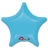 Caribbean Blue Star Solid Color Foil Party Balloon 19 inch from Balloon Shop NYC