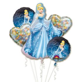 Cinderella Mylar Party Balloon Bouquet from Balloons Shop NYC