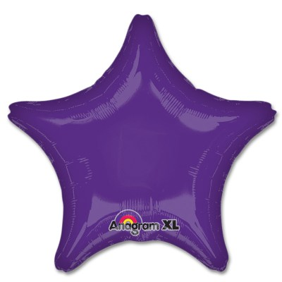 Purple Star Solid Color Foil Party Balloon 19 inch from Balloon Shop NYC